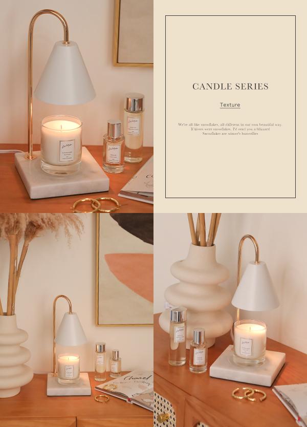 大理石香氛蠟燭燈